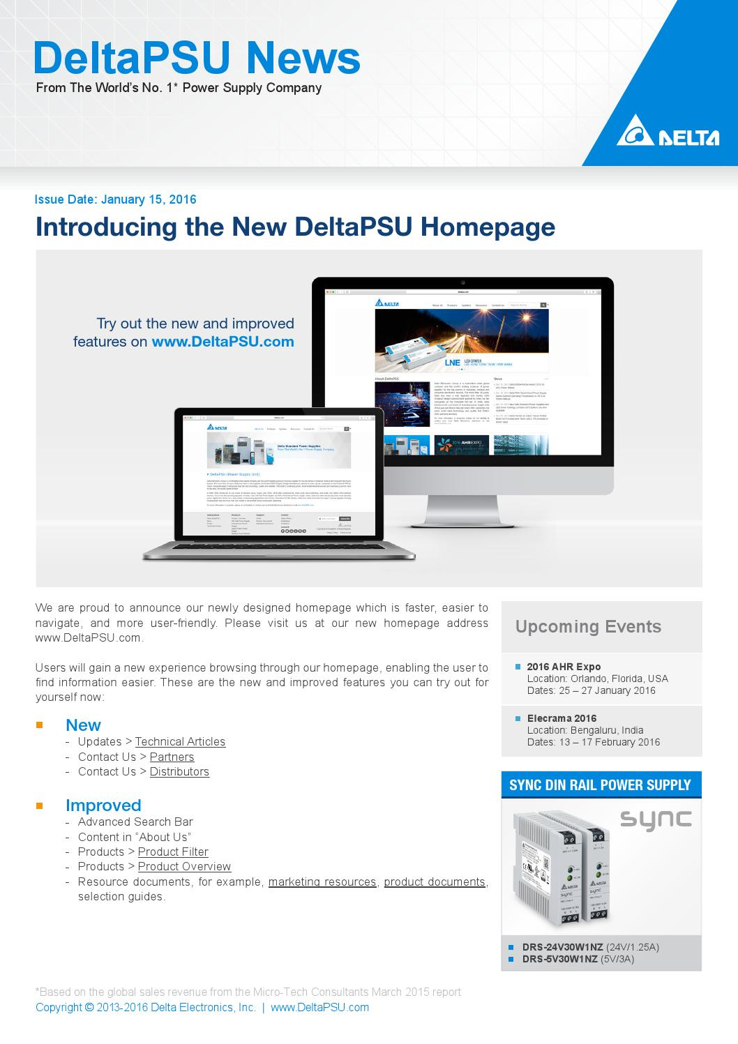 Deltapsu news introducing the new deltapsu homepage by