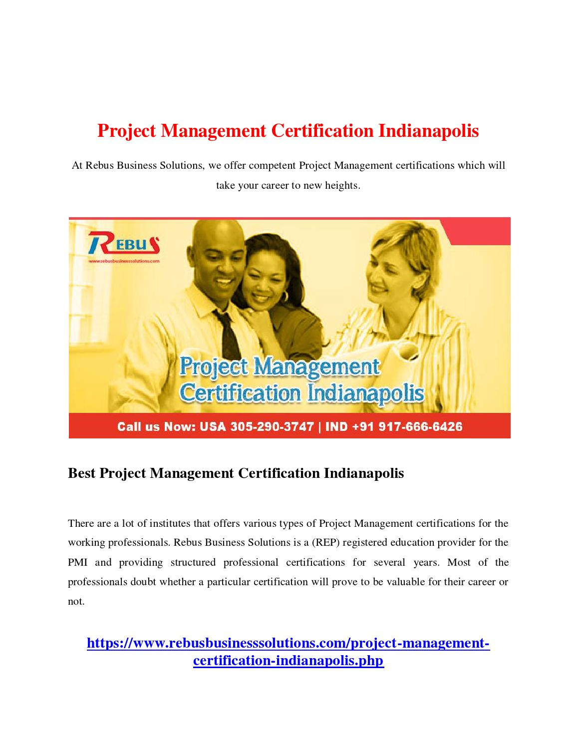 Project Management Certification Indianapolis By Chinnacs Issuu
