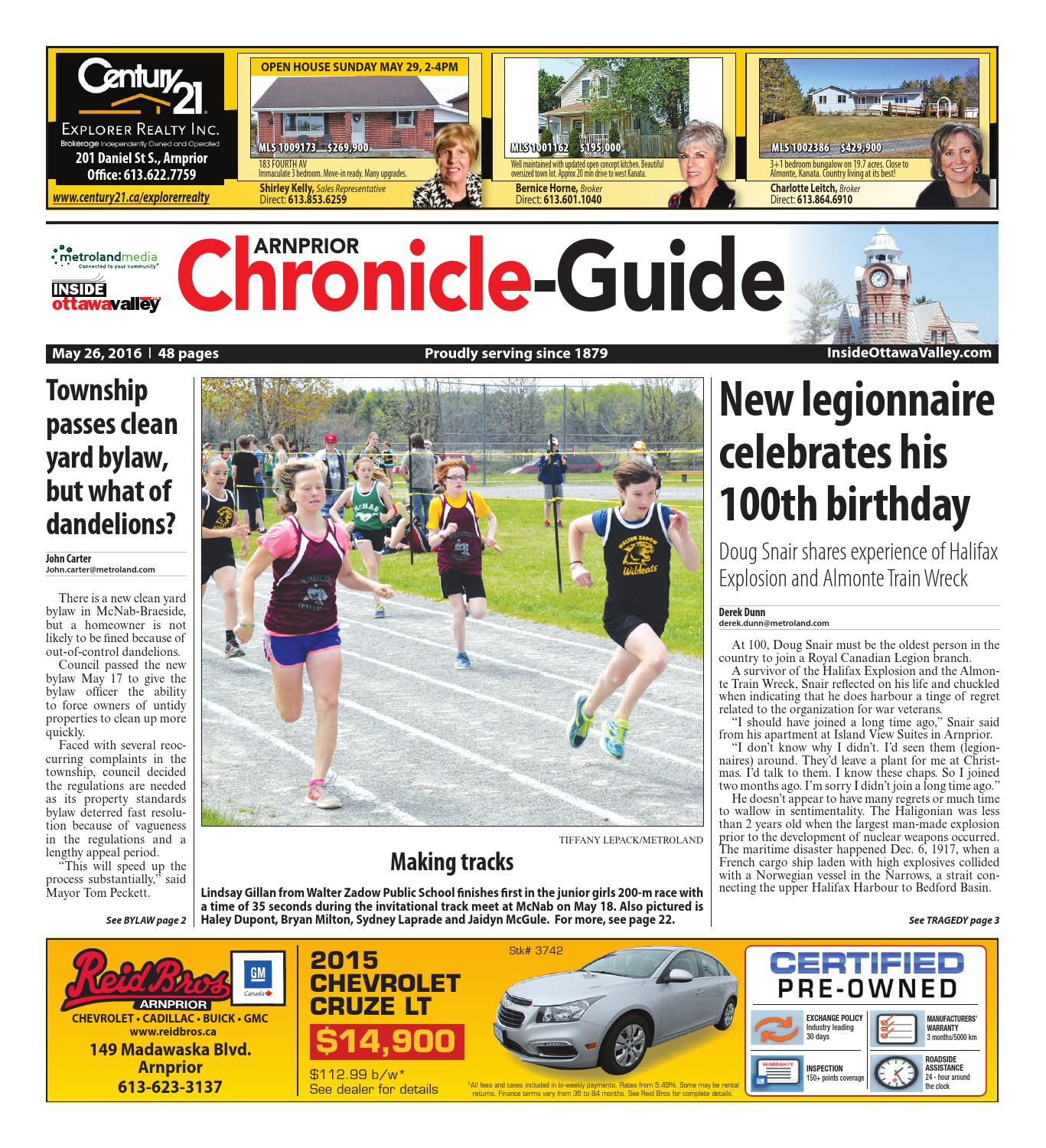 Arnprior052616 By Metroland East Arnprior Chronicle Guide Issuu