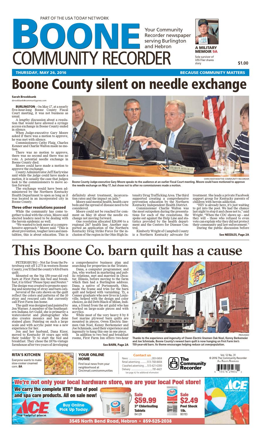 c15c3d4ff1a Boone community recorder 052616 by Enquirer Media - issuu
