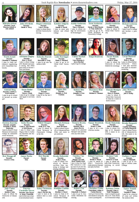 Sauk Rapids-Rice Newsleader - May 27, 2016 by The Newsleaders - issuu