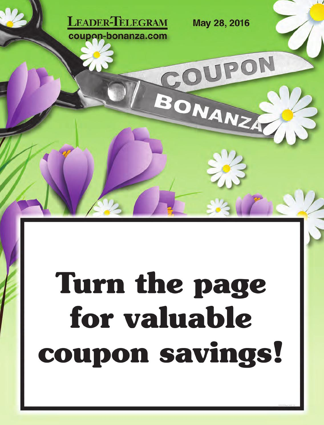 coupon bonanza may 28 2016 by leader telegram issuu