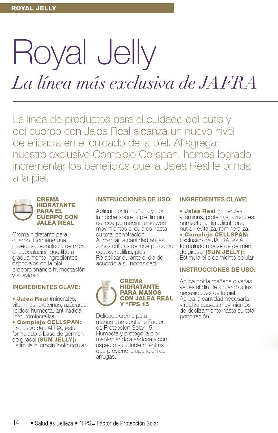beneficios de la jalea real jafra