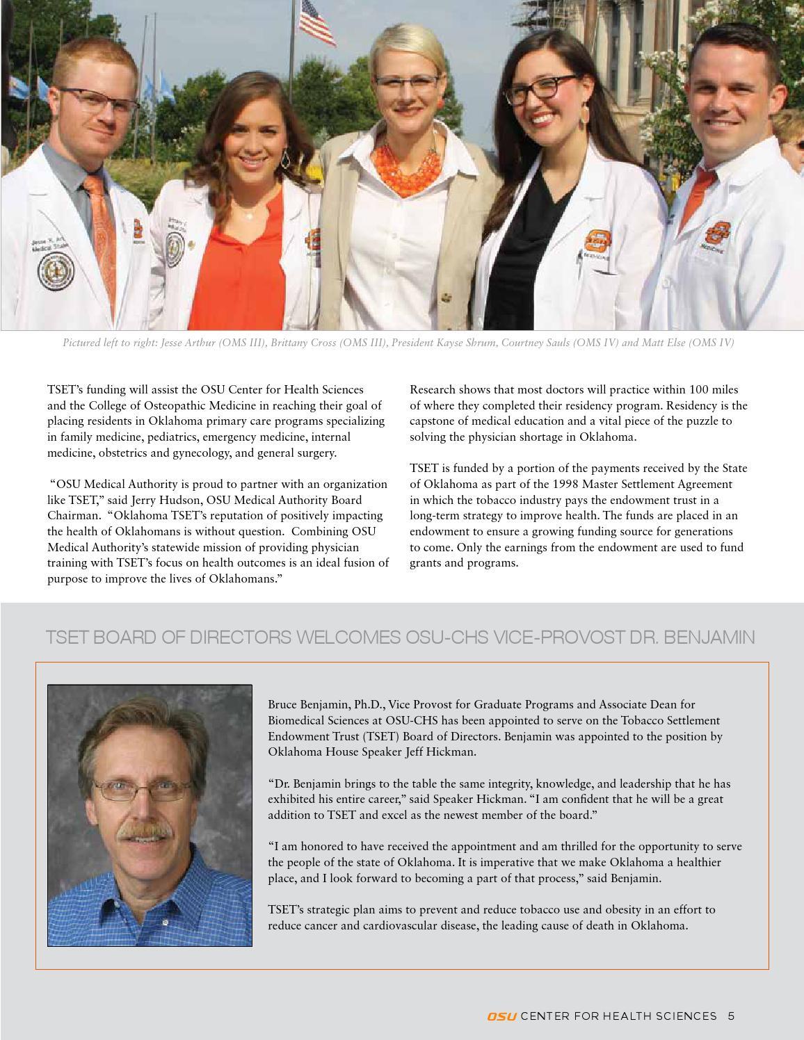 OSU-CHS Magazine - Winter 2016 by OSU Center for Health