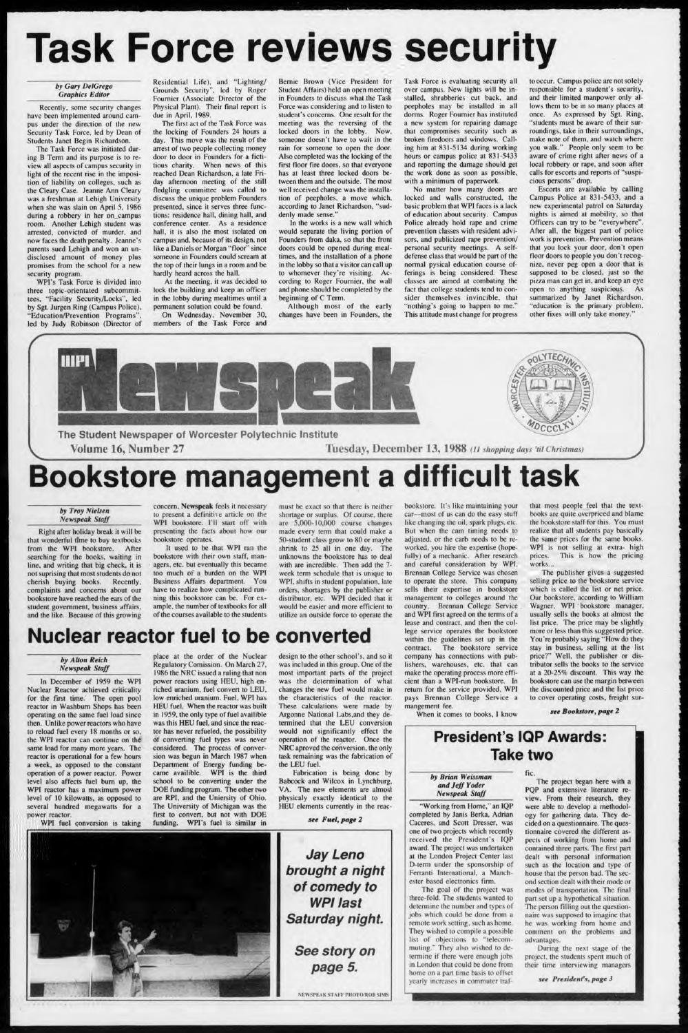 1988 v16 i27 by WPI Archives - issuu