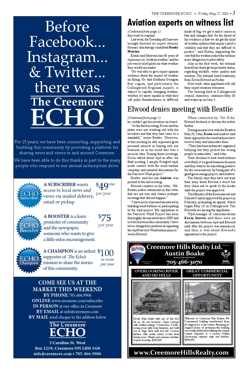 Friday, May 27 by The Creemore Echo - issuu