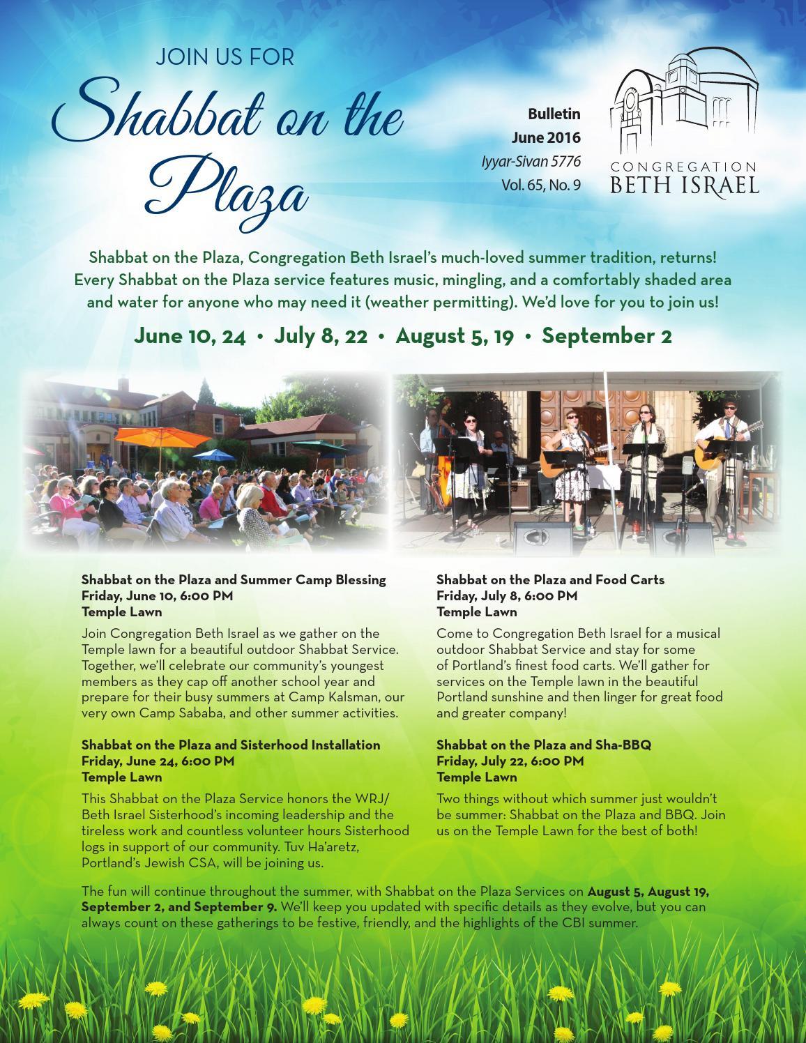 b101fc985ee June 2016 Bulletin - Congregation Beth Israel