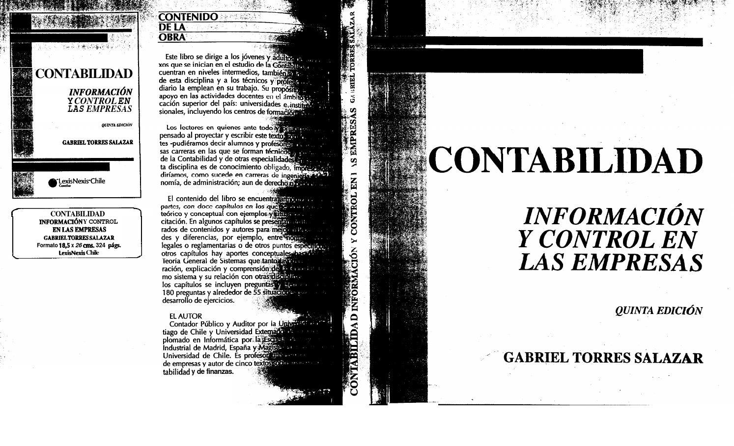 Contabilidad informacion y control en las empresas torres salazar ...