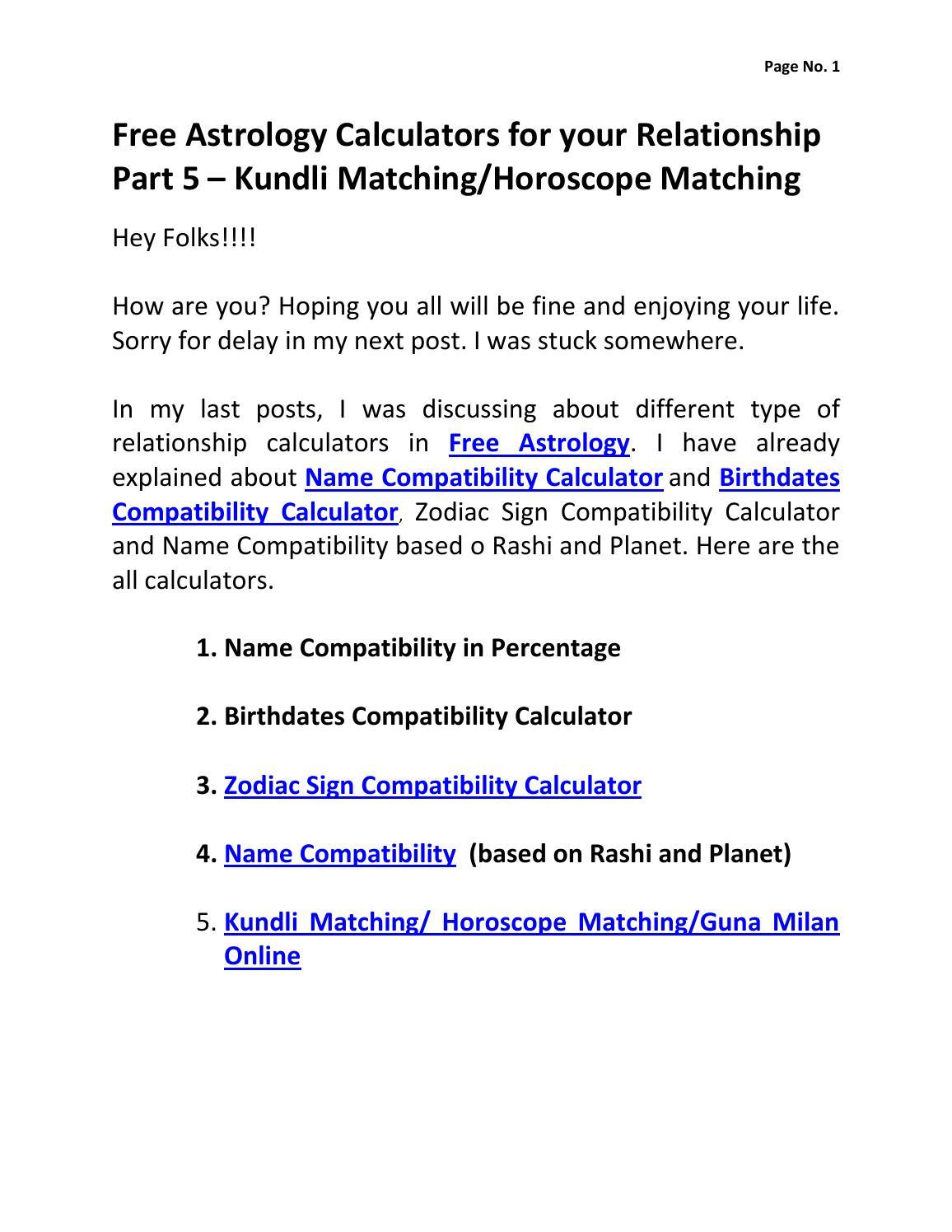 free astrology calculators for your relationship part 5 kundli