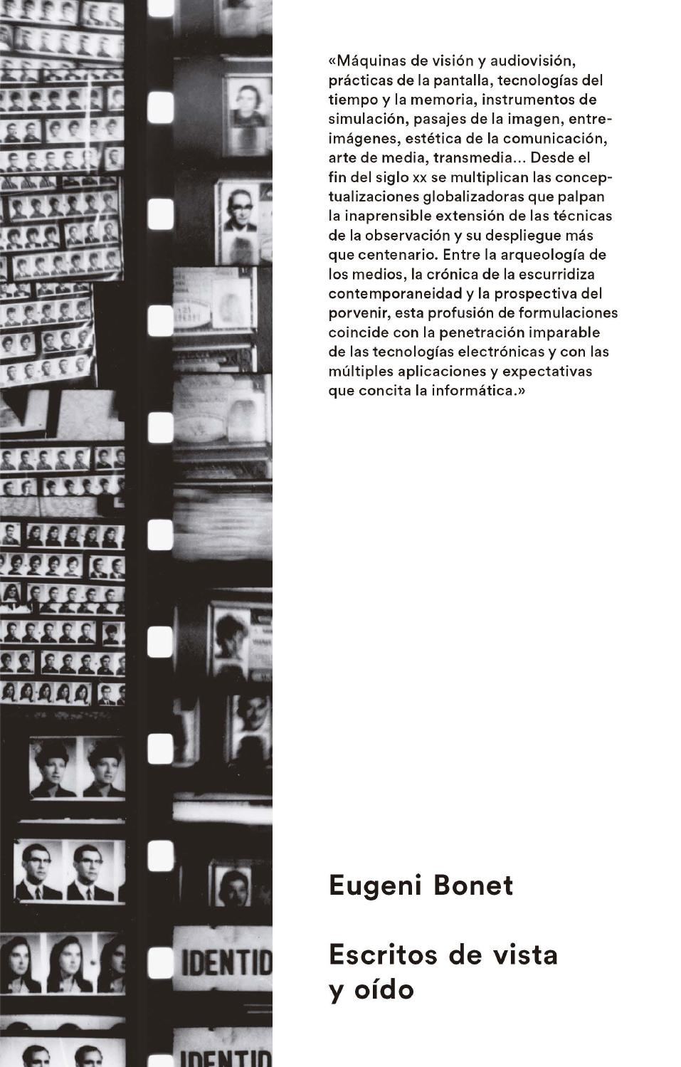 Eugeni Bonet: escritos de vista y oído by MACBA Barcelona - issuu