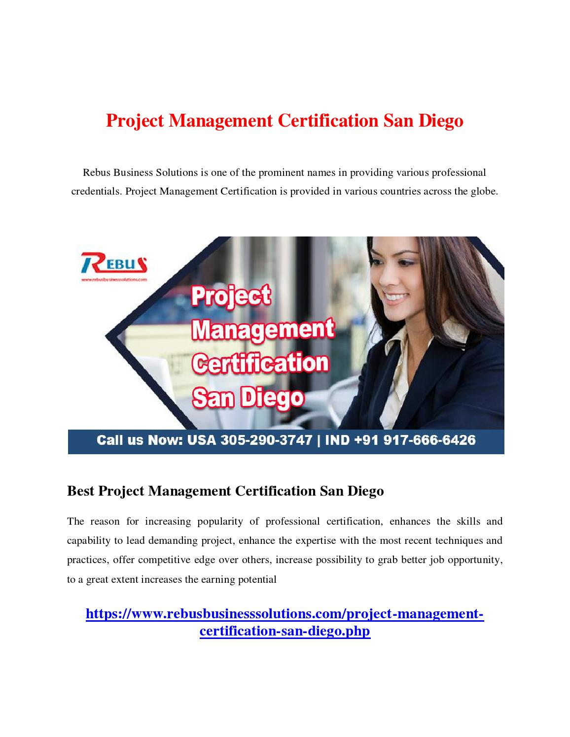 Project Management Certification San Diego By Projectmanagement Issuu