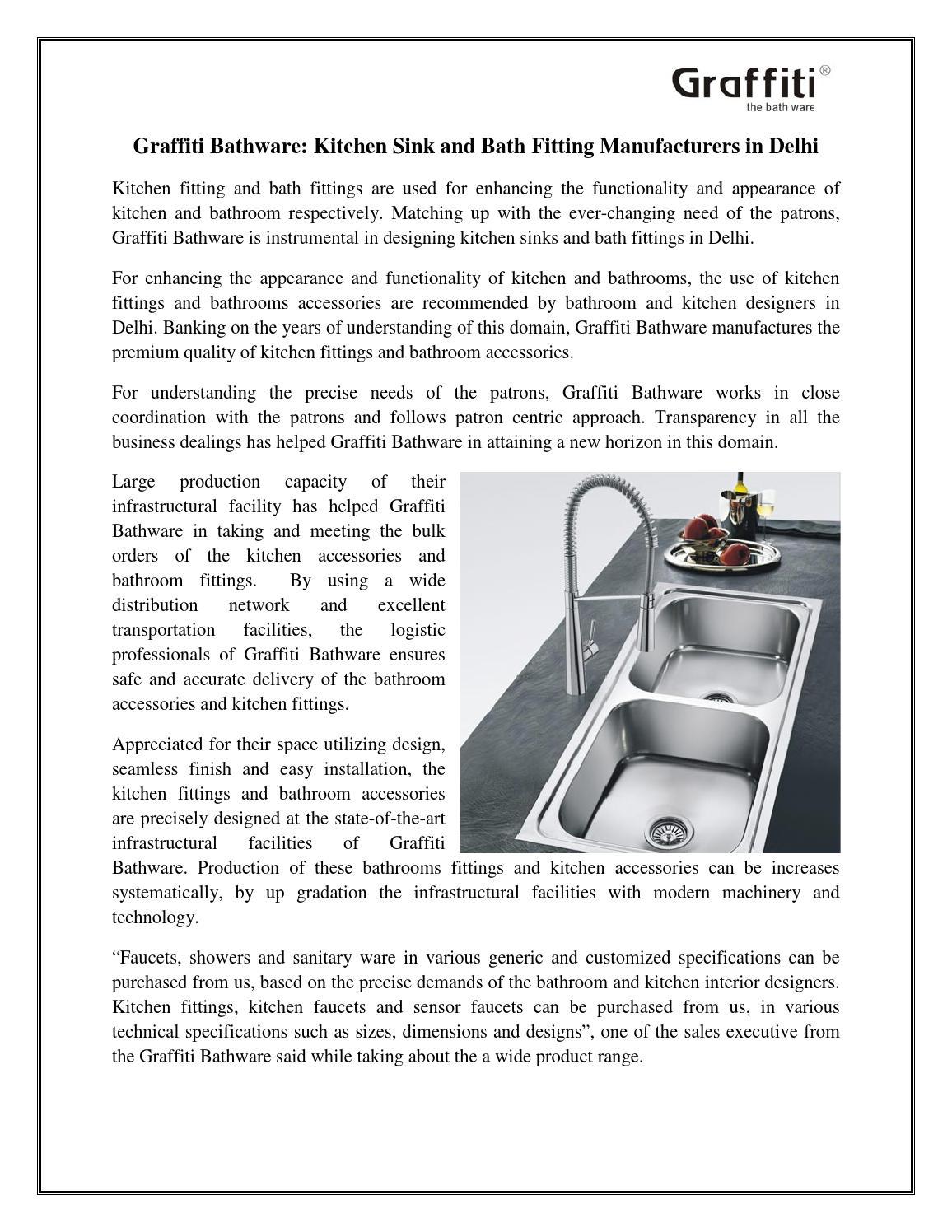 9733598947 Graffiti bathware kitchen sink and bath fitting manufacturers in delhi