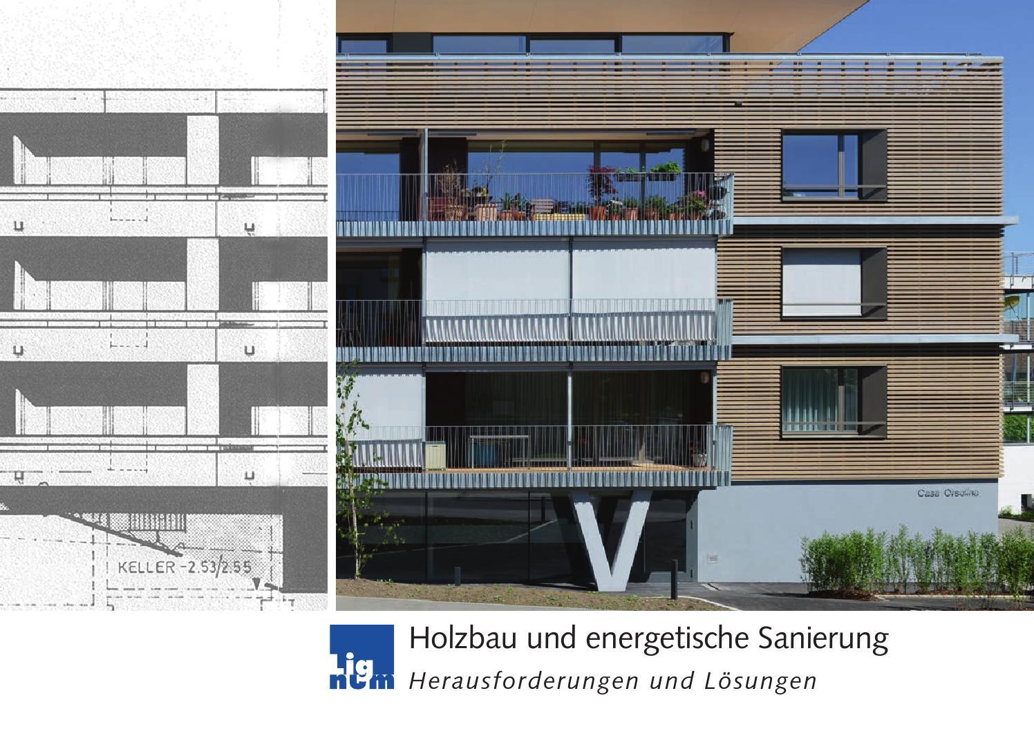 holzbau und energetische sanierung herausforderungen und l sungen by lignum issuu. Black Bedroom Furniture Sets. Home Design Ideas