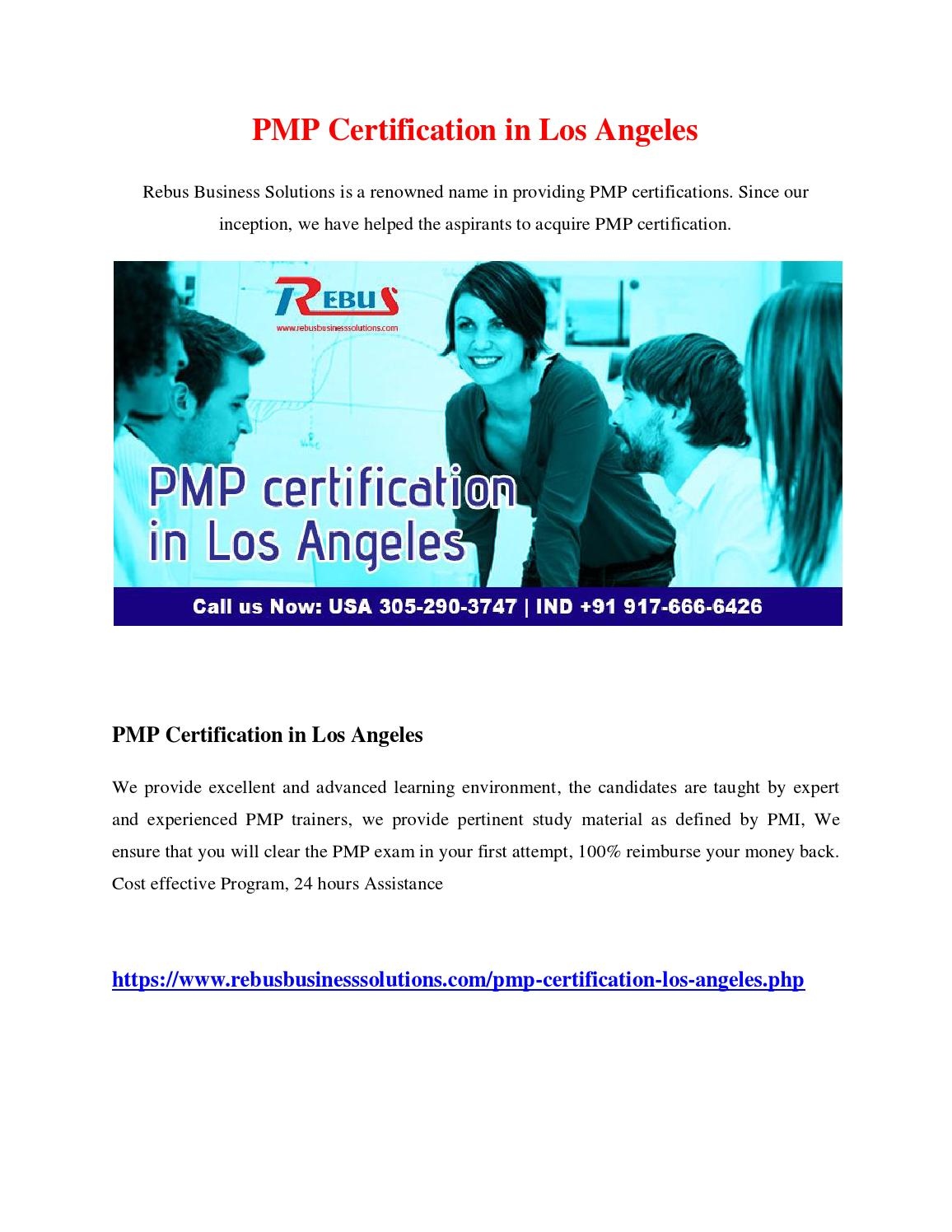 Pmp Certification In Los Angeles By Lakshit Issuu