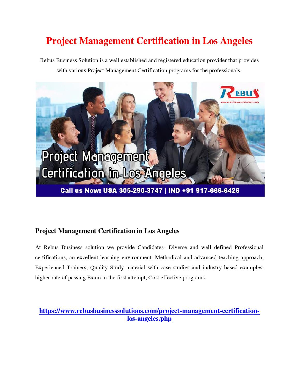 Project Management Certification In Los Angeles By Lakshit Issuu
