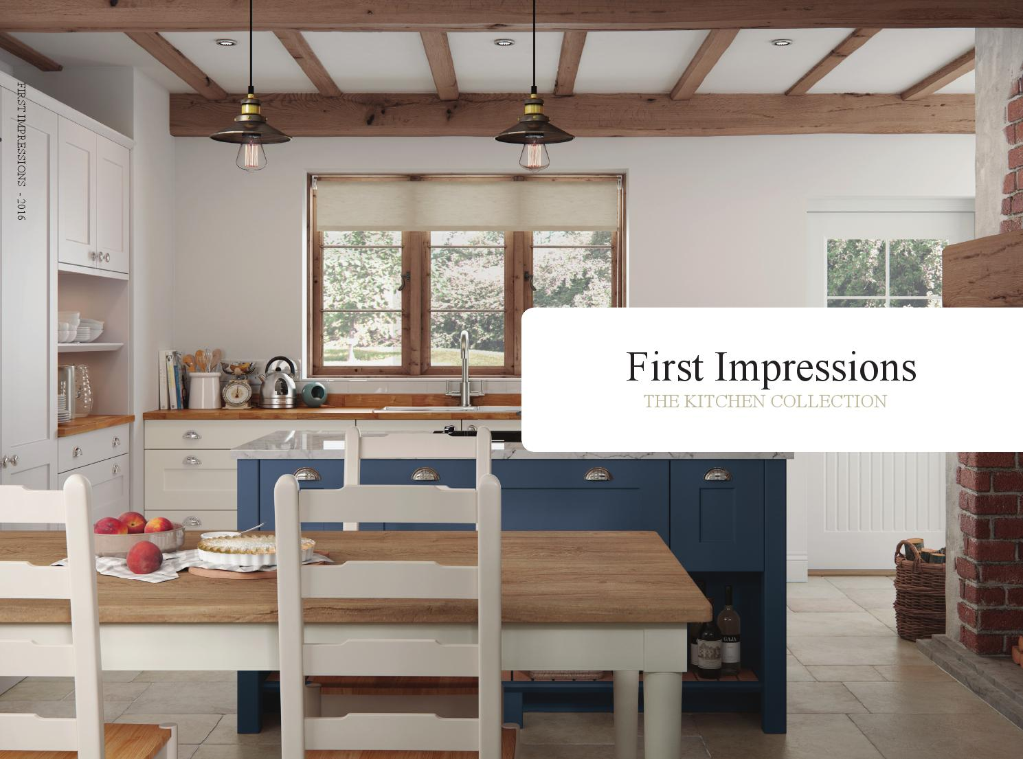 First Impressions   Kitchen Collection Brochure 2016
