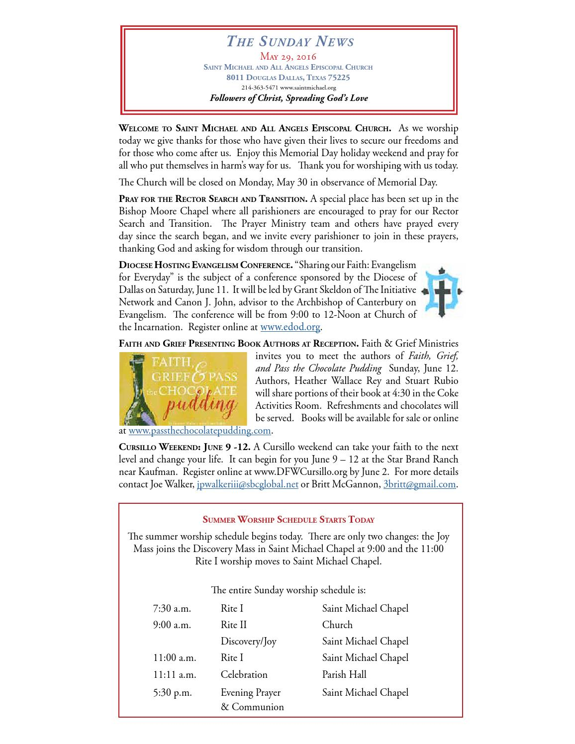 Sunday News - May 29 by Saint Michael and All Angels - issuu