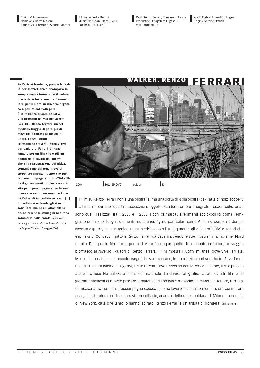 Cinéportrait Villi Hermann Italiano By Swiss Films Issuu