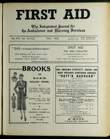 First Aid Journal 1942 1943 By Museum Of The Order Of St John Issuu
