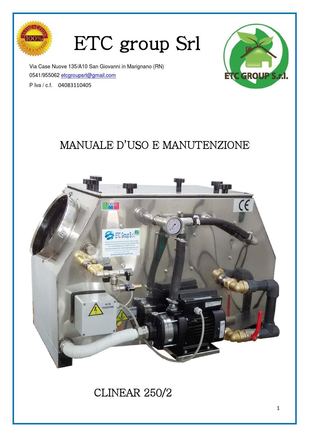 Manuale Clinear Mini 250 Abbattitori Di Fuliggine By Claudio