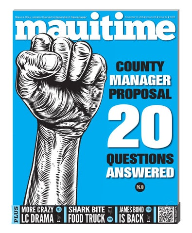 19 22 County Manager Proposal Questions Answered, November