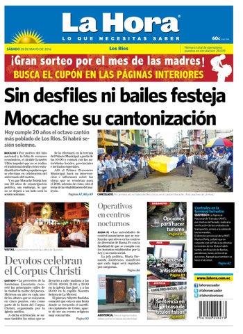 Los ríos 28 de mayo del 2016 by Diario La Hora Ecuador - issuu 2bc12cf81b3