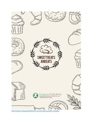 Bakery Company Profile Template By Company Profile Samples  Issuu