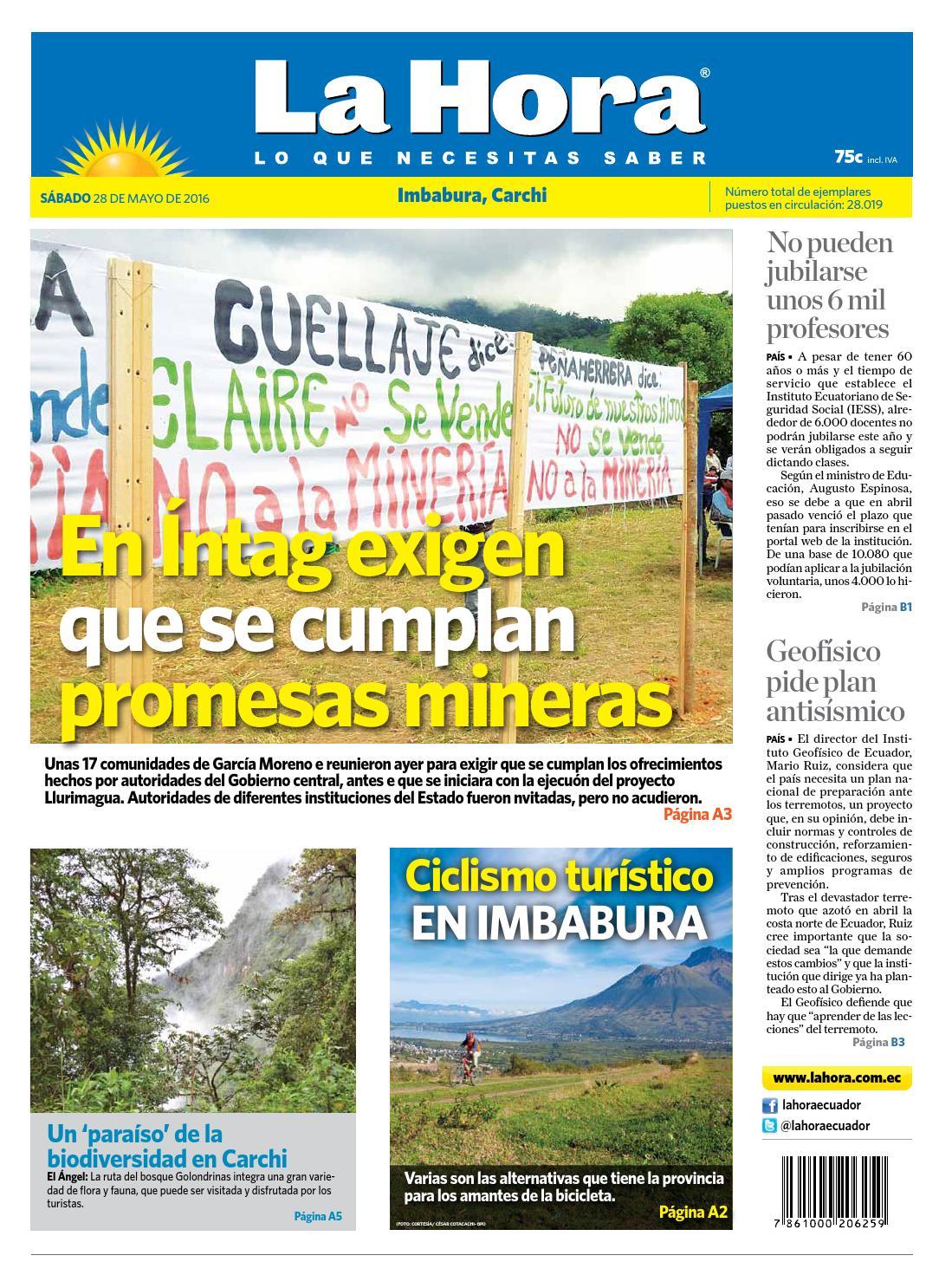 Los R Os 28 De Mayo Del 2016 By Diario La Hora Ecuador Issuu # Jof Muebles Para Oficina