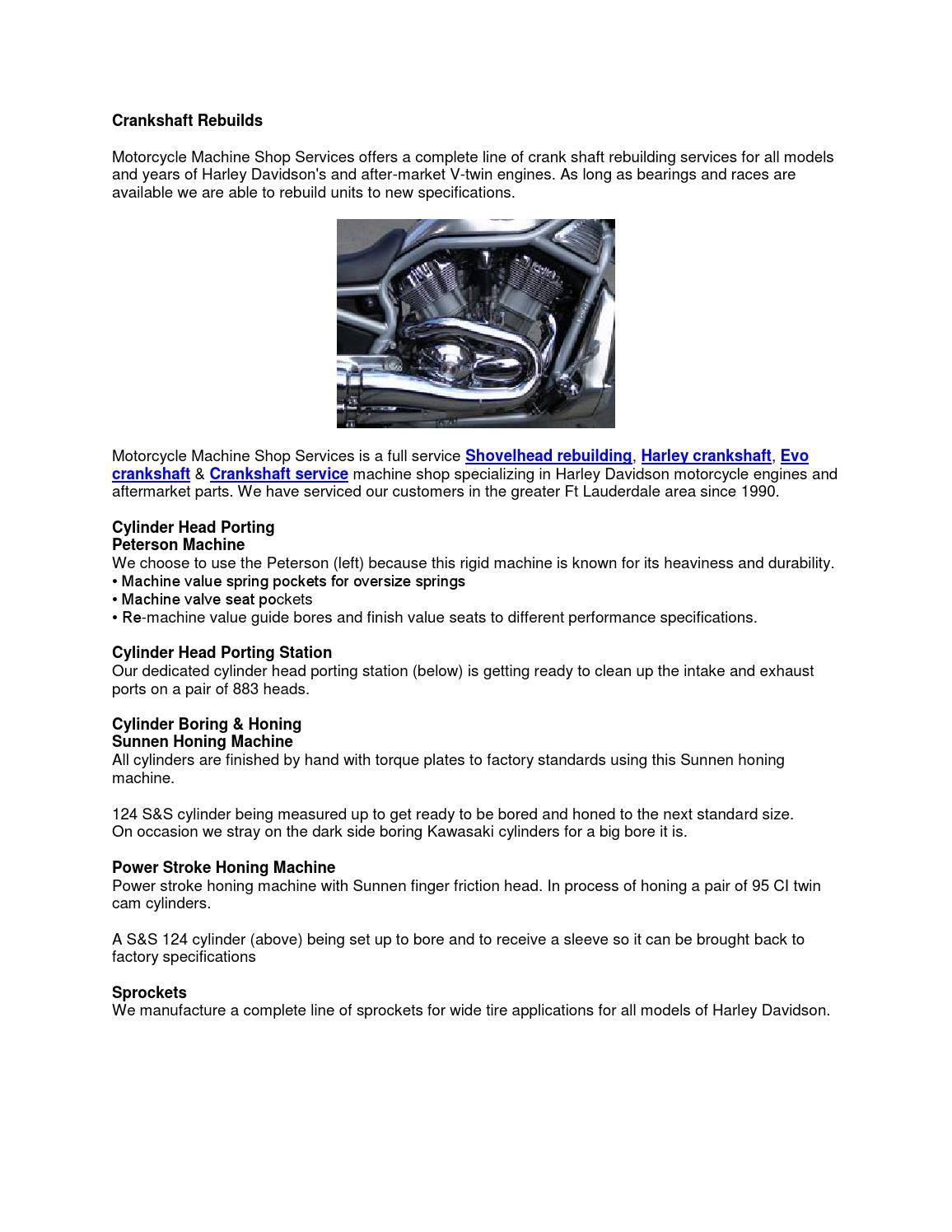 Crankshaft rebuilds by Motorcycle machine shop - issuu