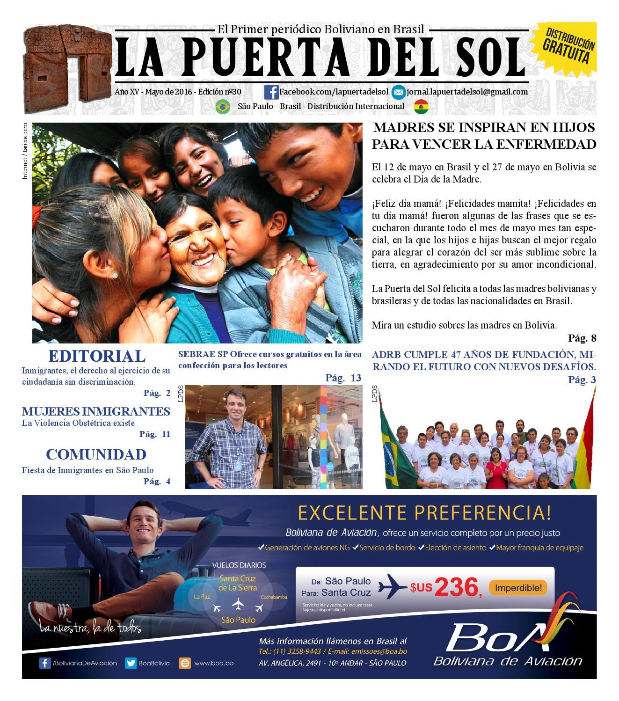 El periodico la puerta del sol edici n 30 mayo 2016 by for Puerta 7 campo de mayo