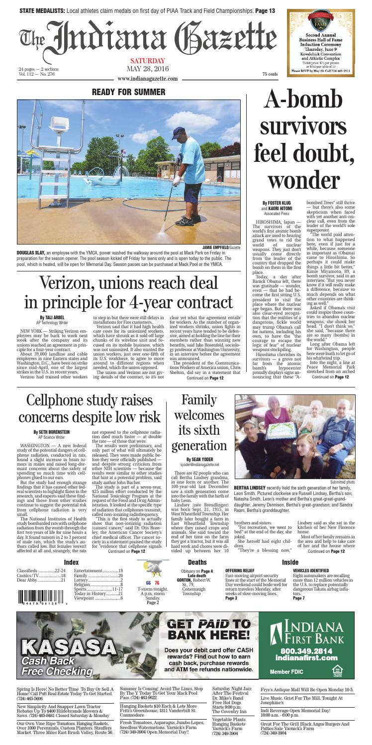 The Indiana Gazette, May 28, 2016 by Indiana Printing & Publishing ...