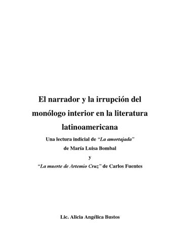 Alicia Bustos El Narrador Y La Irrupci N Del Mon Logo
