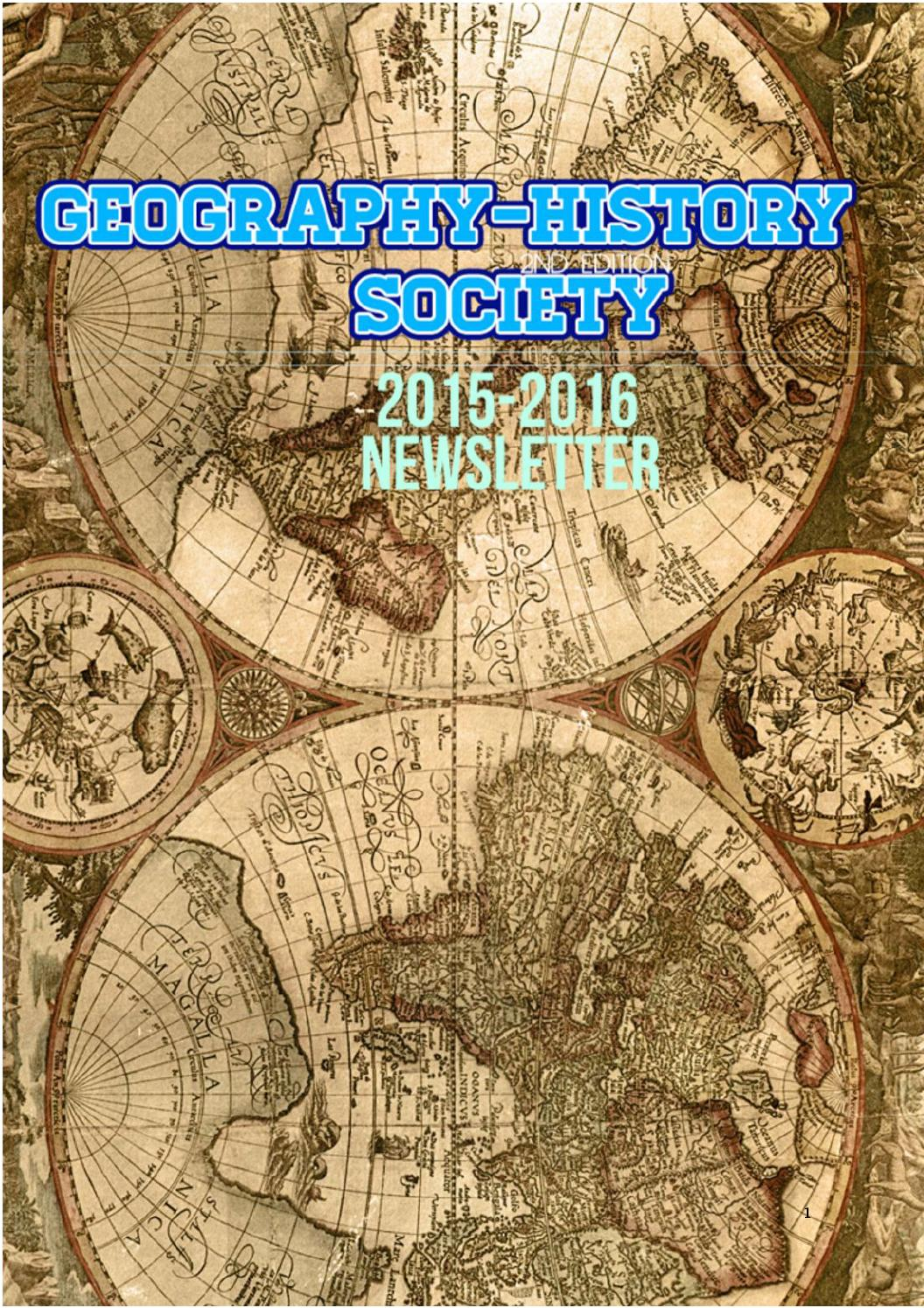 Geography-History Society 2015/2016 Newsletter Vol. 2 by SPCC ...