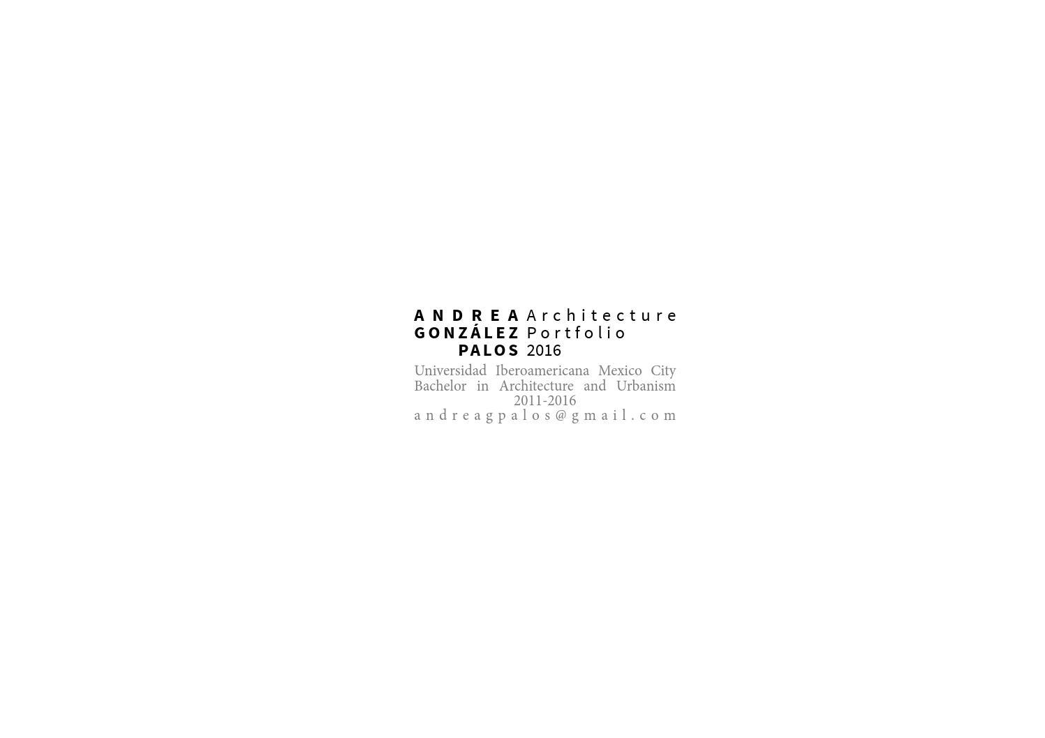 Andrea Gonz Lez Architecture Portafolio 2016 By Andrea Gonz Lez  # Muebles Ricaldi