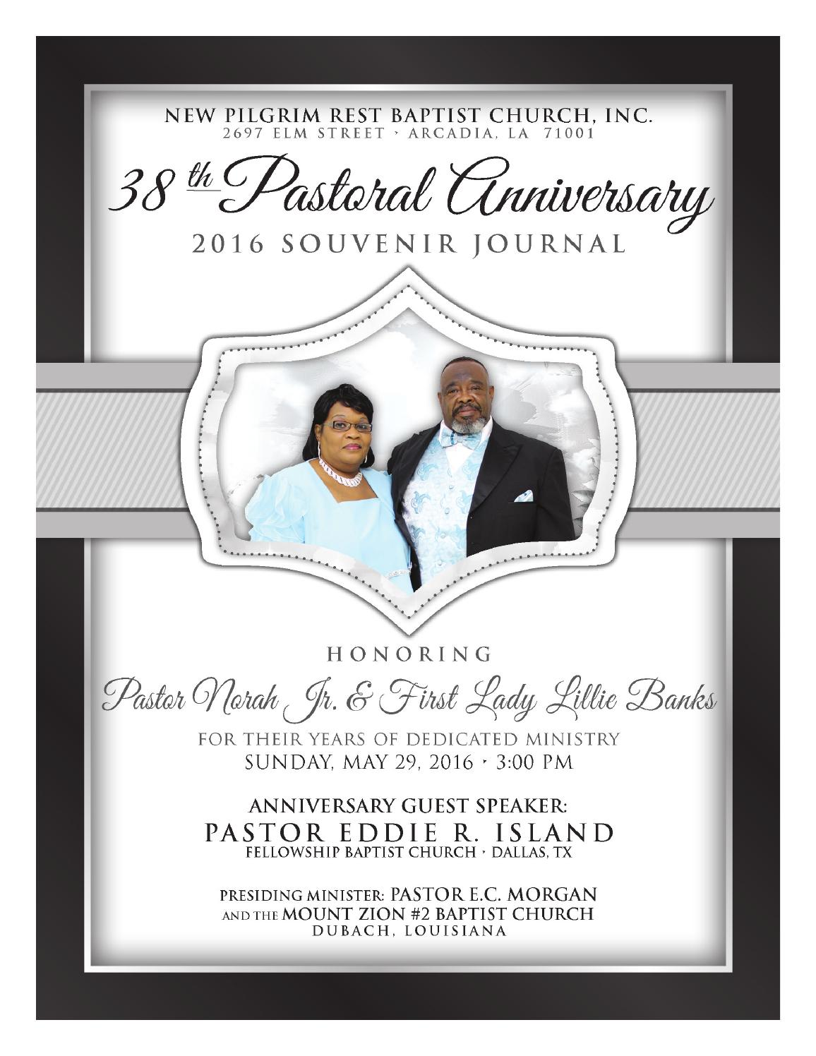 Pastor and wife 4th appreciation service by new st paul baptist pastor norah jr first lady lillie banks 38th pastoral anniversary souvenir journal stopboris Image collections