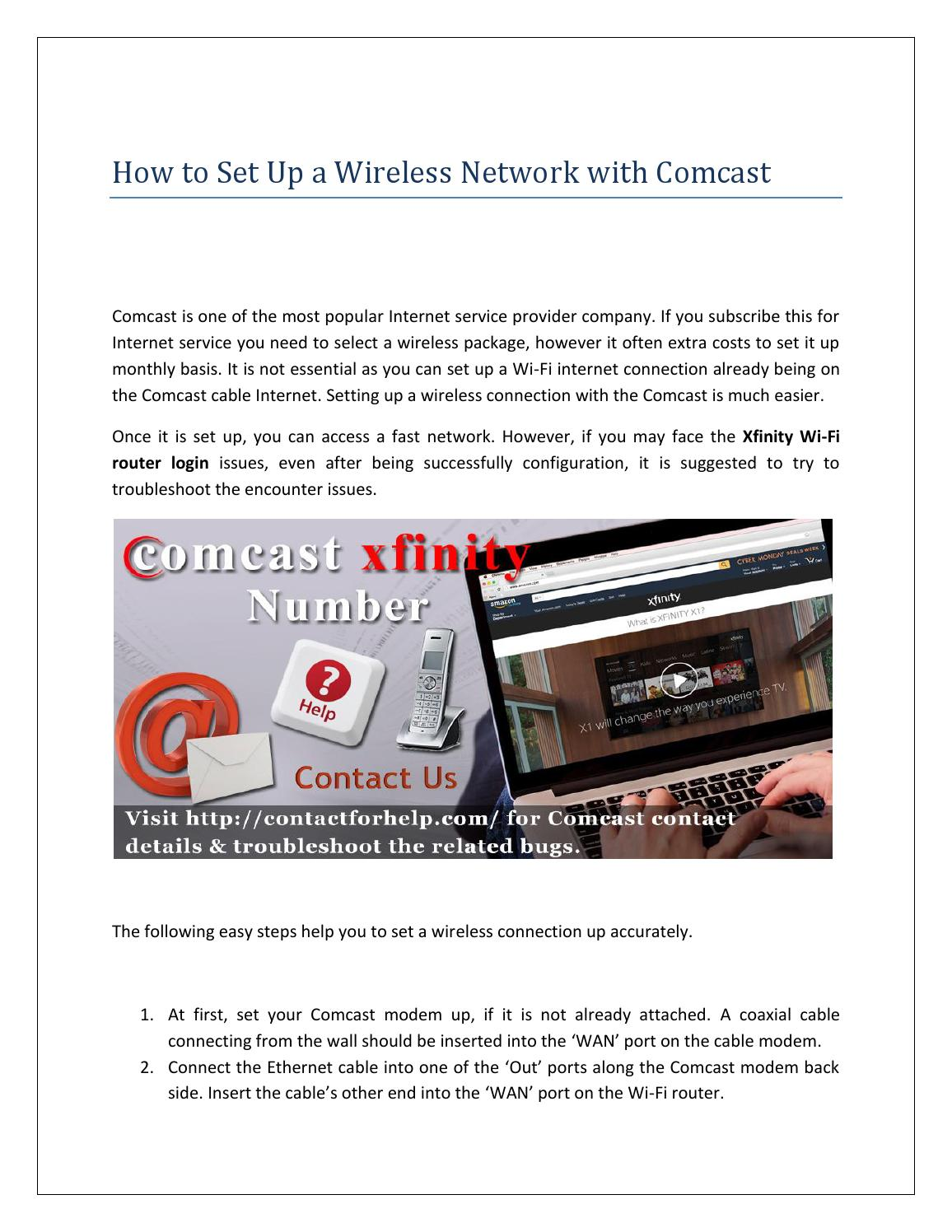 Set up a Wireless Network with Comcast by Lisa Heydon - issuu