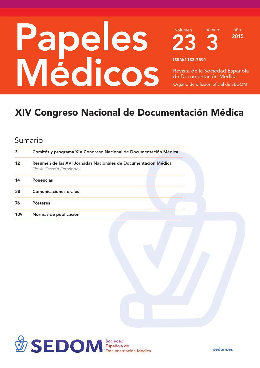 Papeles medicos 23 - 3 by SEDOM web - issuu