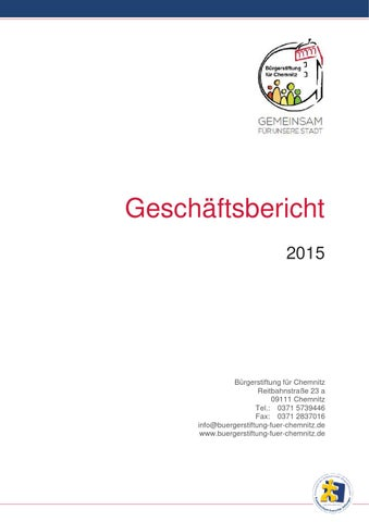 Geschäftsbericht 2015 by Bürgerstiftung für Chemnitz - issuu