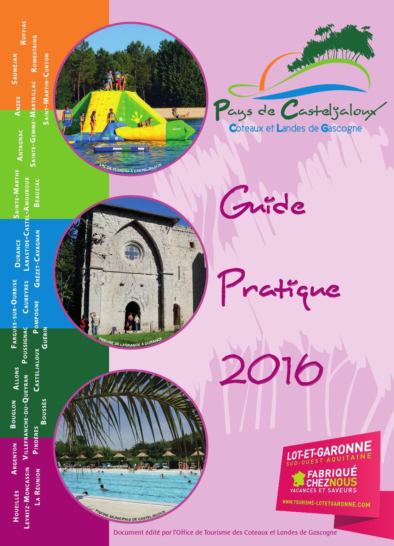 Guide pratique et animations d 39 t 2016 coteaux et landes - Office tourisme casteljaloux ...