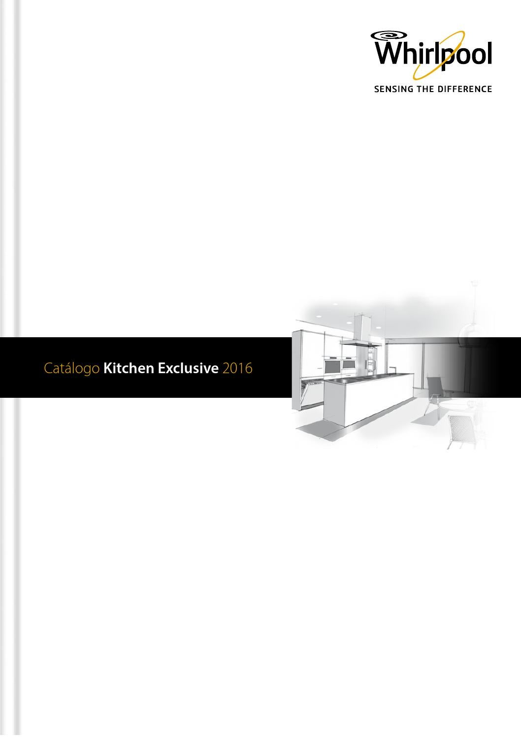 Cat Logo Whirlpool Kitchen Exclusive 2016 By Muebles Y  ~ Hornos Encastrables Fondo Reducido