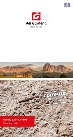 d4159702f26 Holiday guide   events - Summer 2016 - Val Gardena by DOLOMITES VAL ...