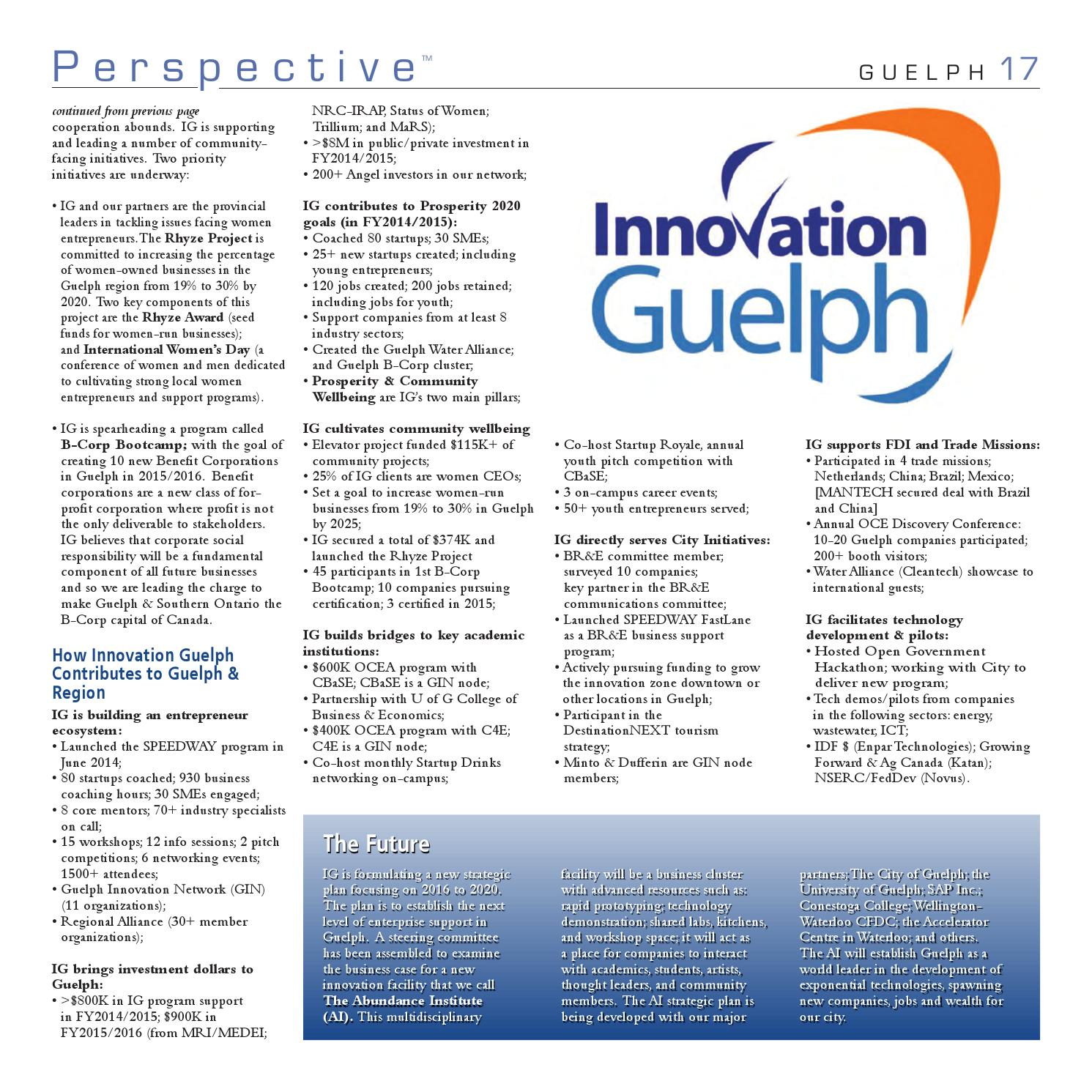 Guelph 2015 Perspective