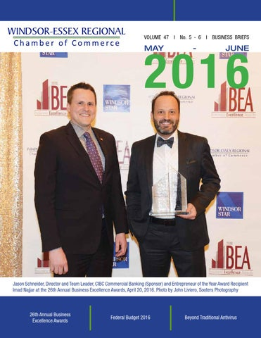 Business briefs mayjune 2016 by windsor essex regional chamber page 1 sciox Image collections