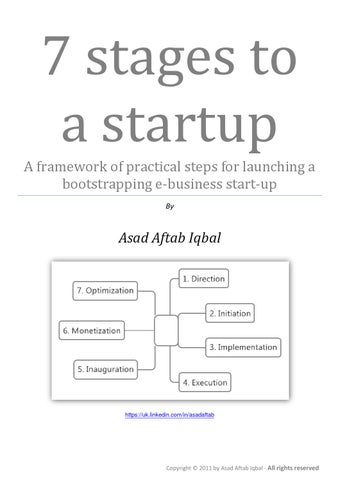 7 stages to a startup by Asad Aftab - issuu