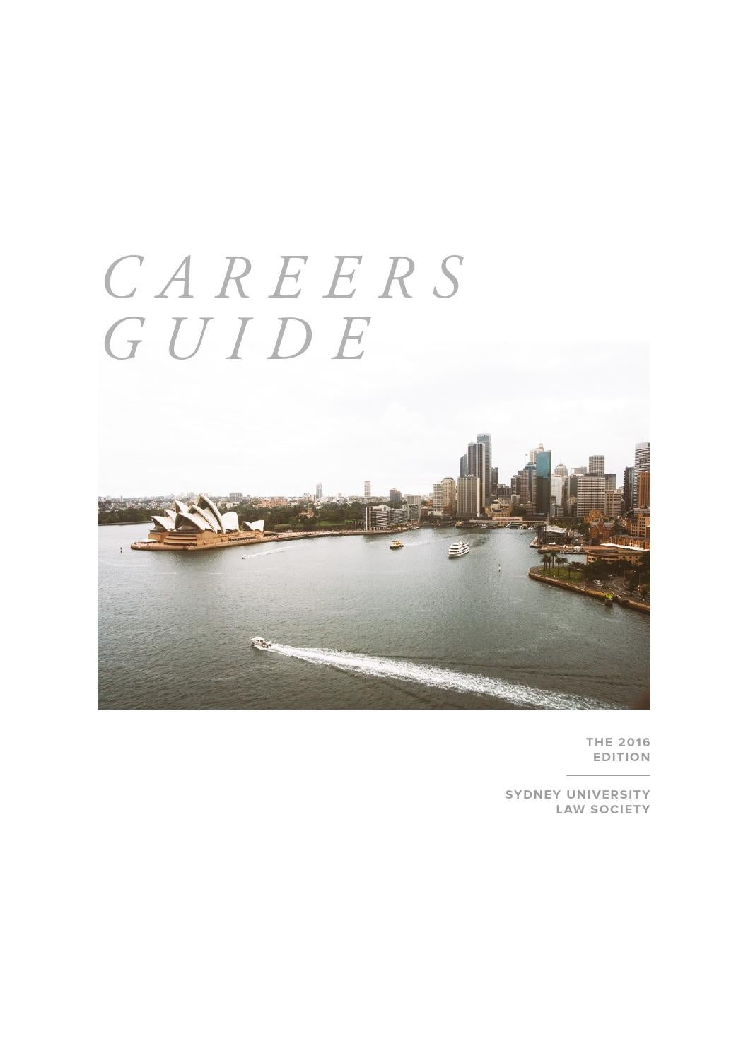 SULS Careers Guide 2016 by Sydney
