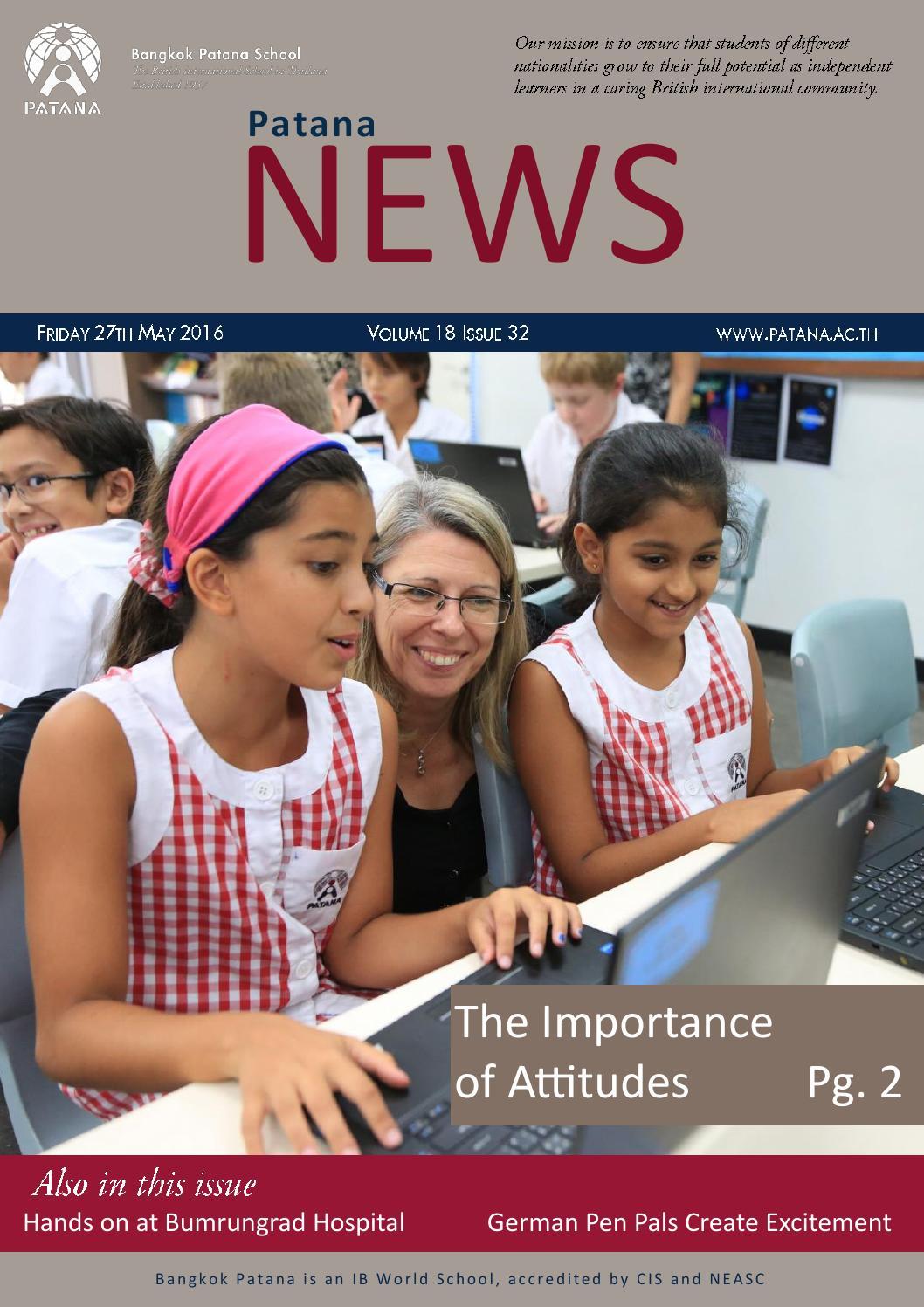 Patana News Volume 18 Issue 32 by Bangkok Patana School - issuu