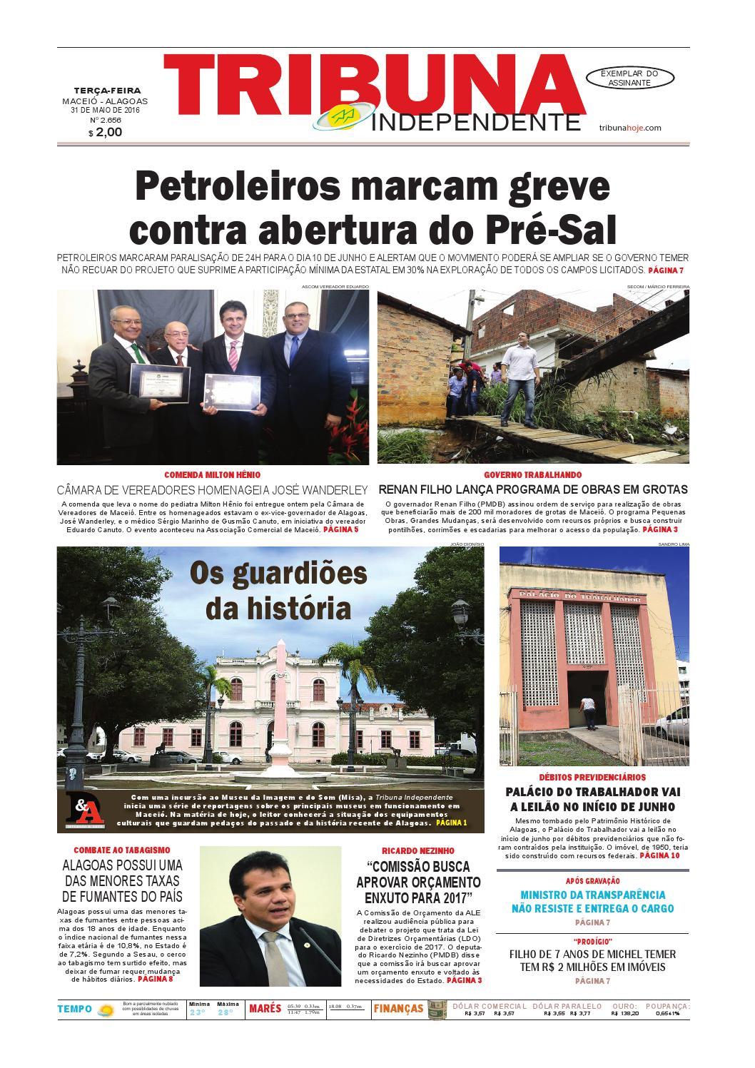 ba064b06c Edição número 2656 - 31 de maio de 2016 by Tribuna Hoje - issuu