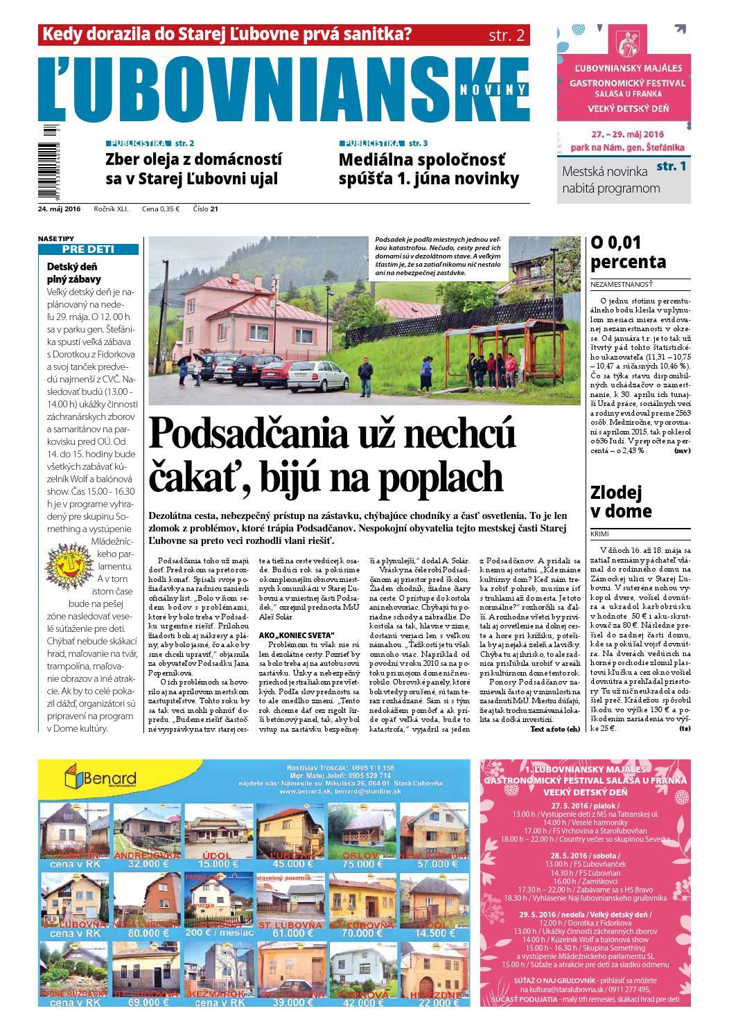 Ľubovnianske noviny č. 21 2016 by Vladimir Zima - issuu b72e8f5a522