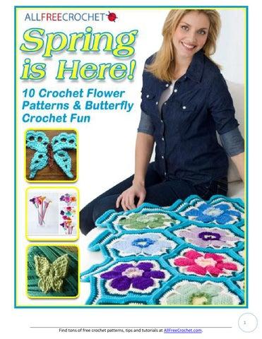 10 Crochet Flower Patterns And Butterfly Crochet Fun By Huyen Huyen