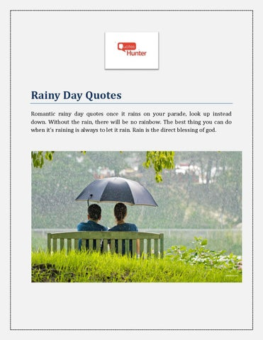 Romantic Rainy Day Quotes By Quoteshunter Issuu